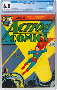 Action Comics #39 (DC, 1941) CGC FN 6.0 Tan to off-white pages