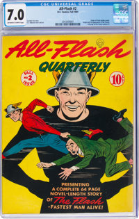 All-Flash #2 (DC, 1941) CGC FN/VF 7.0 Off-white to white pages
