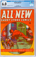 Golden Age (1938-1955):War, All-New Comics #2 (Harvey Publications, 1943) CGC FN 6.0 Light tan to off-white pages....