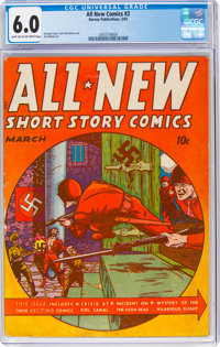 All-New Comics #2 (Harvey Publications, 1943) CGC FN 6.0 Light tan to off-white pages