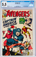 Silver Age (1956-1969):Superhero, The Avengers #4 (Marvel, 1964) CGC FN- 5.5 Off-white pages....