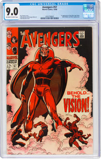 The Avengers #57 (Marvel, 1968) CGC VF/NM 9.0 Off-white to white pages