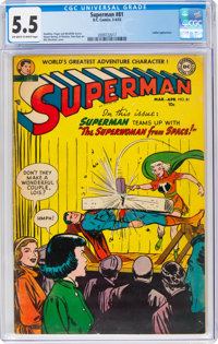 Superman #81 (DC, 1953) CGC FN- 5.5 Off-white to white pages