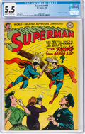 Golden Age (1938-1955):Superhero, Superman #87 (DC, 1954) CGC FN- 5.5 Off-white to white pages....