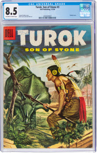 Turok, Son of Stone #3 (Dell, 1956) CGC VF+ 8.5 Off-white to white pages