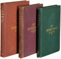 Books:Literature Pre-1900, Henry Wadsworth Longfellow. Group of Three First Editions of The New England Tragedies. Boston: Ticknor and Fields, 1868. ... (Total: 3 )