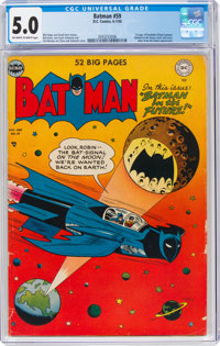 Batman #59 (DC, 1950) CGC VG/FN 5.0 Off-white to white pages