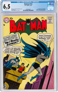 Batman #112 (DC, 1957) CGC FN+ 6.5 Off-white pages
