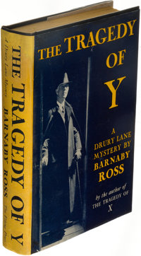 [Ellery Queen]. Barnaby Ross (pseudonym). The Tragedy of Y. A Drury Lane Mystery. Ne