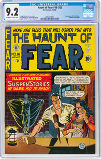 Haunt of Fear #16 (#2) (EC, 1950) CGC NM- 9.2 Off-white to white pages
