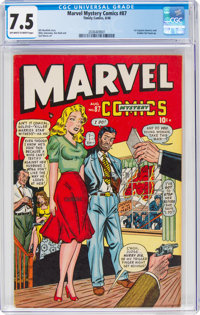 Marvel Mystery Comics #87 (Timely, 1948) CGC VF- 7.5 Off-white to white pages