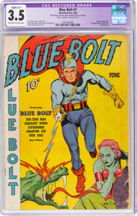 Blue Bolt #1 (Novelty Press, 1940) CGC Apparent VG- 3.5 Slight (C-1) Off-white to white pages