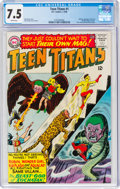 Silver Age (1956-1969):Superhero, Teen Titans #1 (DC, 1966) CGC VF- 7.5 White pages....