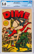 Golden Age (1938-1955):Superhero, Dime Comics #1 (Lev Gleason Publications, 1945) CGC VG/FN 5.0 Off-white to white pages....