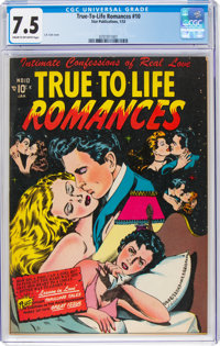 True-To-Life Romances #10 (Star Publications, 1952) CGC VF- 7.5 Cream to off-white pages