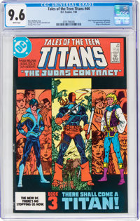 Tales of the Teen Titans #44 (DC, 1984) CGC NM+ 9.6 White pages