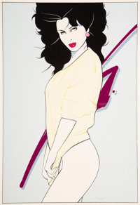 Patrick Nagel (American, 1945-1984) Untitled Acrylic on board 14-3/4 x 10-1/4 inches (37.5 x 26.0
