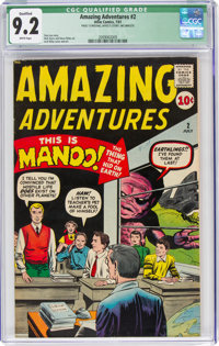 Amazing Adventures #2 Incomplete (Marvel, 1961) CGC Qualified NM- 9.2 White pages