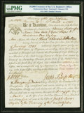 $4,000 Treasury of the United States Register's Office March 17, 1795 6% Bond Hessler UNL Replacement