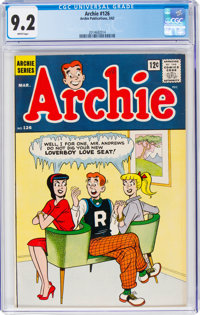 Archie #126 (Archie, 1962) CGC NM- 9.2 White pages