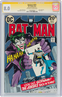 Batman #251 Signature Series - Neal Adams (DC, 1973) CGC VF 8.0 Off-white to white pages