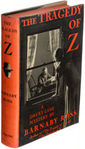 Books:Mystery & Detective Fiction, [Ellery Queen]. Barnaby Ross (pseudonym). The Tragedy of Z. A Drury Lane Mystery. New York: The Viking Press, 19...