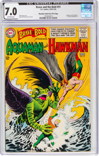 The Brave and the Bold #51 Aquaman and Hawkman - Murphy Anderson File Copy (DC, 1964) CGC FN/VF 7.0 Off-white pages