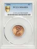 Indian Cents: , 1896 1C MS64 Red PCGS. PCGS Population: (167/89). NGC Census: (84/55). CDN: $275 Whsle. Bid for problem-free NGC/PCGS MS64....