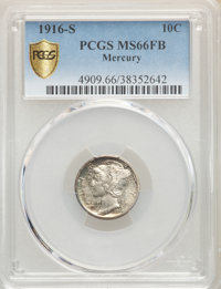 1916-S 10C MS66 Full Bands PCGS. PCGS Population: (96/42). NGC Census: (27/6). CDN: $950 Whsle. Bid for problem-free NGC...