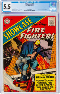Showcase #1 Fire Fighters (DC, 1956) CGC FN- 5.5 Off-white to white pages
