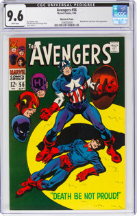 The Avengers #56 Western Penn Pedigree (Marvel, 1968) CGC NM+ 9.6 White pages