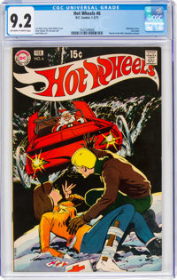 Hot Wheels #6 (DC, 1971) CGC NM- 9.2 Off-white to white pages