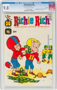 Richie Rich #100 File Copy (Harvey, 1970) CGC NM/MT 9.8 Off-white to white pages