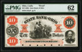 Obsoletes By State:Ohio, Cadiz, OH- State Bank of Ohio, Harrison Branch $10 186_ G182a Wolka 0252-UNL Proof PMG Uncirculated 62.. ...