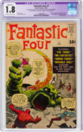 Silver Age (1956-1969):Superhero, Fantastic Four #1 (Marvel, 1961) CGC Apparent GD- 1.8 Slight (B-1) Off-white to white pages....
