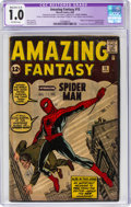 Silver Age (1956-1969):Superhero, Amazing Fantasy #15 (Marvel, 1962) CGC Apparent FR 1.0 Moderate/Extensive (C-4) Off-white pages....