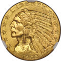 Indian Half Eagles, 1908 $5 MS65 NGC....