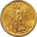 Saint-Gaudens Double Eagles, 1908 $20 Motto MS65 PCGS....