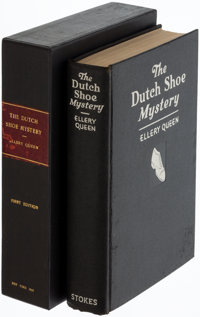 Ellery Queen. The Dutch Shoe Mystery. A Problem in Deduction. New York: Frederick A