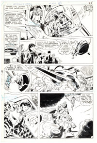 Don Heck and Vince Colletta Detective Comics 489 Story Page 5 Original Art Robin (DC Comics, 1980)