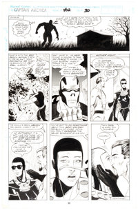 Larry Alexander and Ariane Lenshoek Captain America #402 Story Page 5 Original Art (Marvel Comics, 1992)