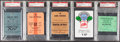 Football Collectibles:Tickets, 1972-95 Super Bowl Credential Lot of 12 - All PSA Encapsulated....