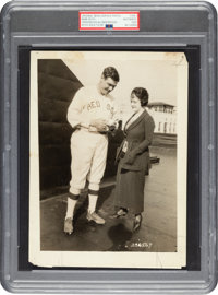 1920 Babe Ruth Sold to New York Yankees Original News Photograph, PSA/DNA Type 1