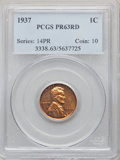 Certified Modern Proof Sets, Five-Piece 1937 Proof Set PR63 to PR65 PCGS. Individually Housed. This set will include the following: Cent PR63 Red; Nick... (Total: 5 coins)