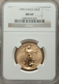 Modern Bullion Coins, 1996 $25 Half-Ounce Gold Eagle MS69 NGC. NGC Census: (3771/163). PCGS Population: (1282/46). CDN: $1,240 Whsle. Bid for pro...