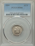 Three Cent Nickels: , 1866 3CN MS66 PCGS. PCGS Population: (30/3). NGC Census: (52/2). CDN: $1,050 Whsle. Bid for problem-free NGC/PCGS MS66. Min...