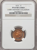 Proof Indian Cents, 1874 1C PR64 Red and Brown Cameo NGC. Ex: Larry Shepherd Collection. NGC Census: (0/3). PCGS Population: (0/5). . ...