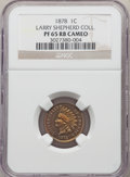 Proof Indian Cents, 1878 1C PR65 Red and Brown Cameo NGC. Ex: Larry Shepherd Collection. NGC Census: (10/3). PCGS Population: (16/8). . ...