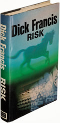 Books:Mystery & Detective Fiction, Dick Francis. Risk. London: Michael Joseph, [1977]. First edition. Signed by the author on the front free endpaper....