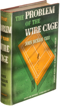 John Dickson Carr. The Problem of the Wire Cage. New York: Harper & Brothers, Publishers, 1939. First edition